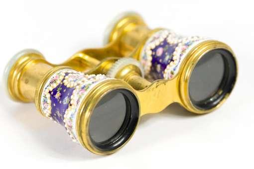 French Enamel Opera Glasses