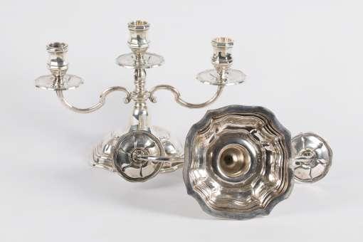 Danish Silver Candelabras