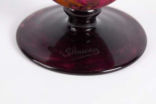 Charles Schneider 'Marbrines' Vase