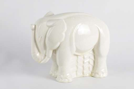 White Craquelé Elephant