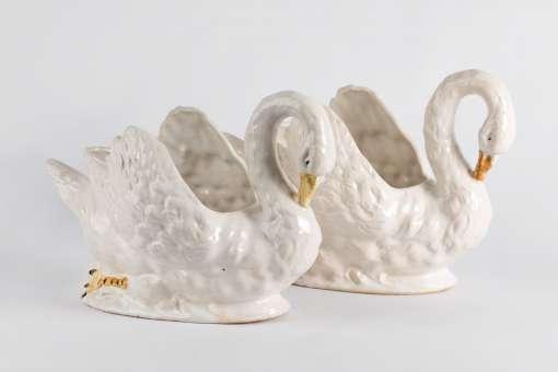 Ceramic Swan Planters