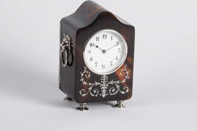 Tortoiseshell and Silver Clock