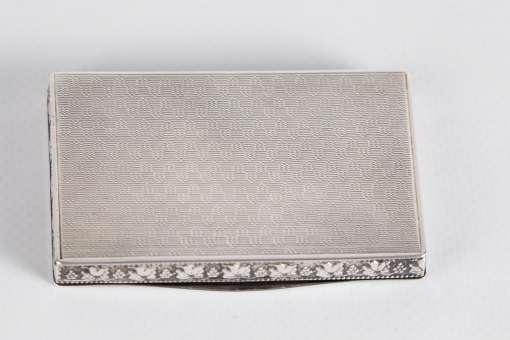 Silver and Guilloche Enamel Box