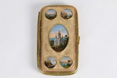 French Grand Tour Souvenir Cigar Case