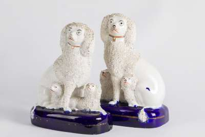 Staffordshire Poodle Figures