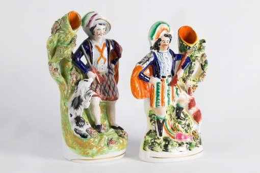 Staffordshire Spill Vase Figures